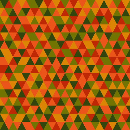 trendy tissue: Green Yellow Red Orange triangle geometric pattern.