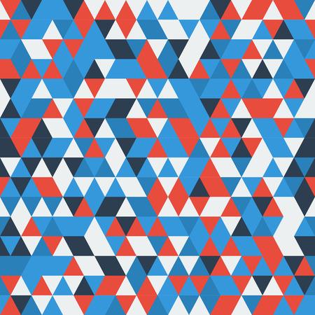 青赤白の三角形の幾何学模様。  イラスト・ベクター素材