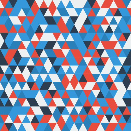 Blue Red White triangle geometric pattern. Imagens - 62698009