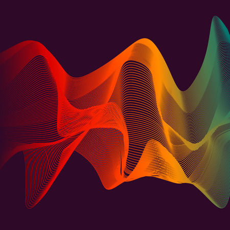blended: Abstract color wave design element. Colorful vector background. Blended gradient lines.