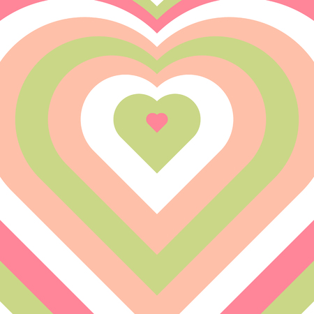 enamored: Blended colorful hearts.