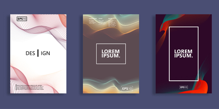 Minimal  covers design. Cool blended gradients. Future Poster template.
