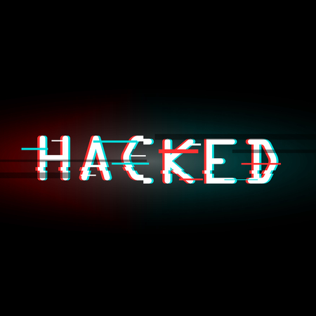 Hacked. Glitched. Abstract Digital Background. Vector Illustrati Illustration