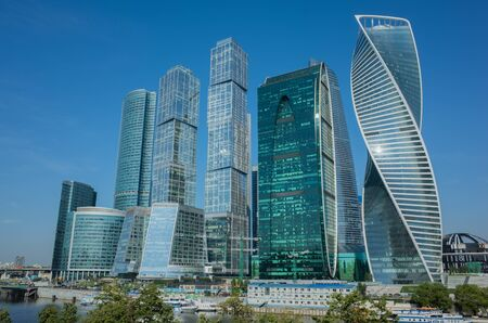 Modern Cityscape. Moscow-city, Russia. Moscow International Busi