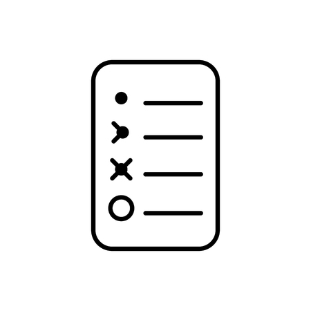 Bullet journal icon. Simple papers task tracker 向量圖像