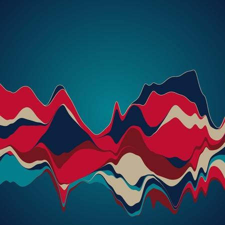 Big data visualization. Streamgraph. Futuristic infographic. Information aesthetic design