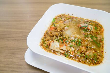 Thai noodle soup,Tom Yum , Thai Food 版權商用圖片
