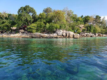 beautiful beach and tropical sea at lipe island ,satun Thailand