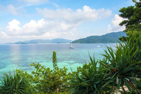 beautiful beach and tropical sea at lipe island ,satun Thailand