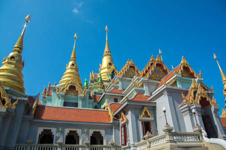 landscape of wat tang sai temple at prachuab kiri khan province in thailand. this is the public domain