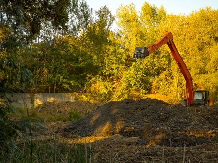 excavator technology on special transport for construction companies
