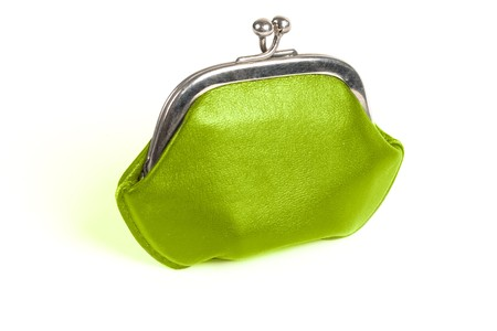 green old style wallet with metall lock photo