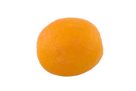 dieting: One isolated orange