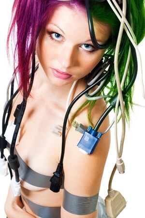 portrait of wired woman Stock Photo - 6049559
