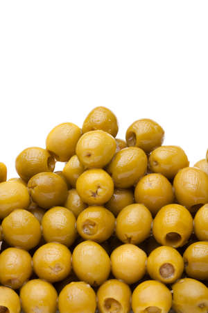 Olives close-up on a white background Stock Photo - 9486802