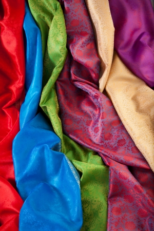 purple silk: Colorful materials  - different texture and color fabrics