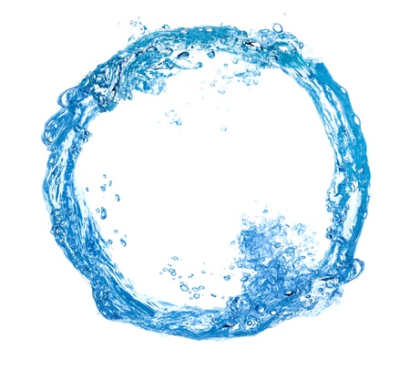 water bubbles: water swirl isolated on white background Stock Photo