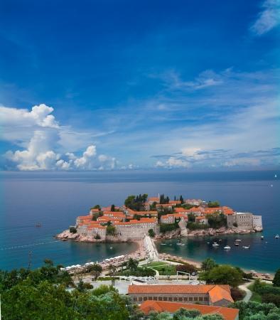 entire: Beautiful entire sveti Stefan peninsula in Montenegro