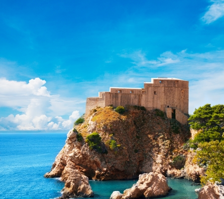 balkan: Lovrijenac fort in Old city of Dubrovnik