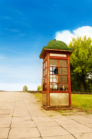 Telephone buzz in Lithuania, located in Kaunas town  photo