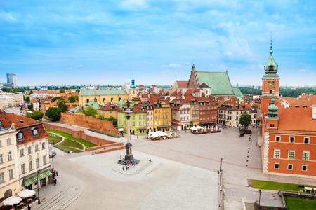 warszawa: Castle square (Plac, Zamkowy), statue column in Warsaw, Poland