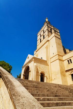 avignon: Avignon church in central downtown square, Provence, France, Europe