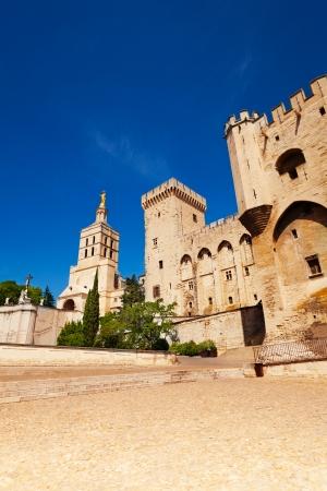 avignon: Avignon central square in old town, France province Provence