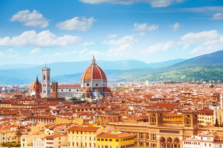 saint mary: Panorama of Florence and Saint Mary of the Flower in Florence