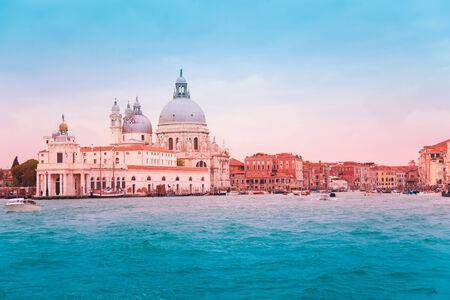 Santa Maria della Salute Basilica in Venice in central Venice over grand canal, Italy photo