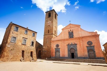 Church of St. Donato. Civita di Bagnoregio. Lazio. Italy, Bagnoregio, Lazio, Italy  photo
