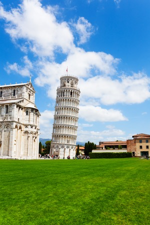 leaning tower of pisa: Leaning tower and part of Duomo in Pisa, Italy