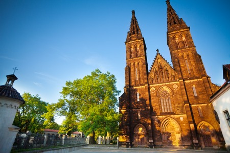 visegrad: Peter and Paul cathedral in Vysehrad part of Prague