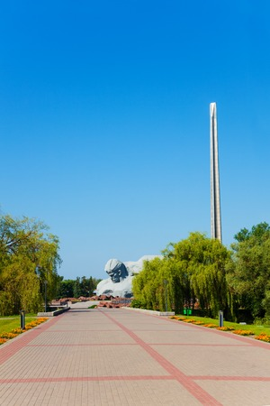 castles needle: Obelisk and face monument of unknown soldier of Brest fortress, world war 2 first attacked post in USSR Editorial