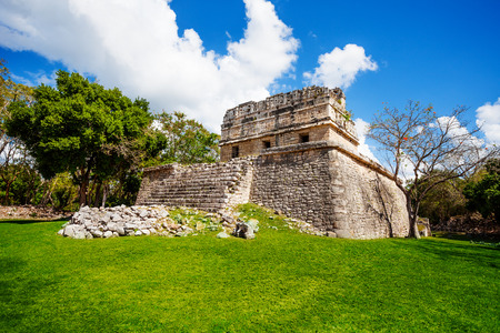 Part of El Caracol, observatory near Chichen Itza in Mexico photo