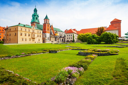 wawel: Royal Archcathedral Basilica of Saints Stanislaus and Wenceslaus on the Wawel Hill  in Wawel Royal Castle Editorial