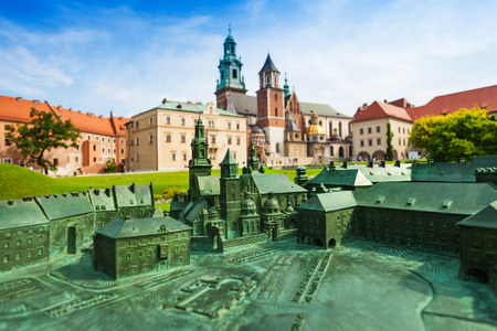 royal park: Royal Archcathedral Basilica of Saints Stanislaus and Wenceslaus on the Wawel Hill  in Wawel Royal Castle Editorial