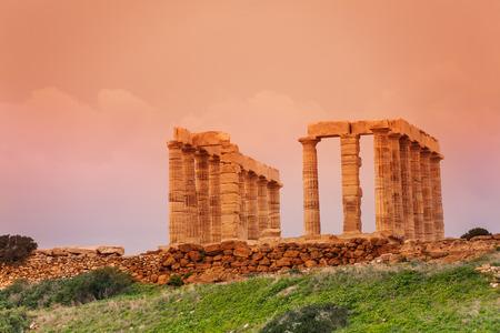 Temple of Poseidon on cape Sounion, Greece Stock Photo - 30374823