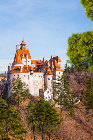 Beautiful view of Bran Castle  Dracula castle  Stock Photo