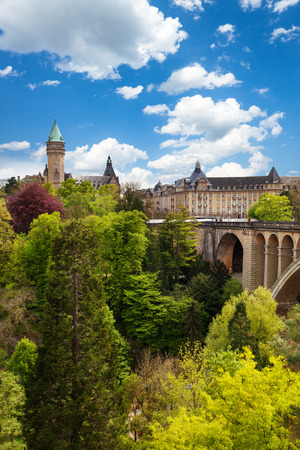 View of State Saving Bank Building in Luxembourg Stock Photo