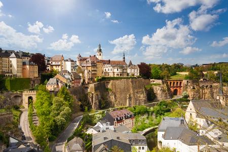 Bovenaanzicht van de mooie stad Luxemburg Stockfoto
