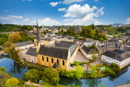 historical sites: Abbey de Neumunster view in Luxembourg