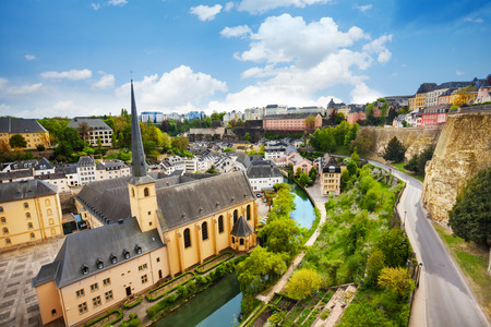 historical sites: Top view of Abbey de Neumunster in Luxembourg