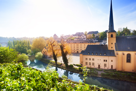 abbey: Sunny view of Abbey de Neumunster in Luxembourg
