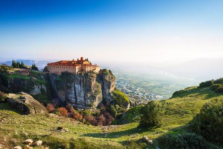 monastery nature: The view on Greek Varlaam Monastery