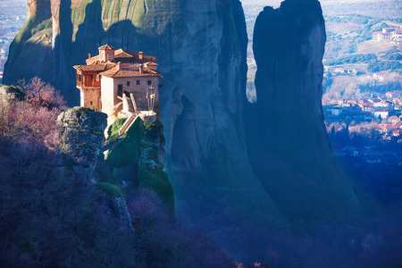 kalabaka: Amazing photo of the Holy Rousanou Monastery