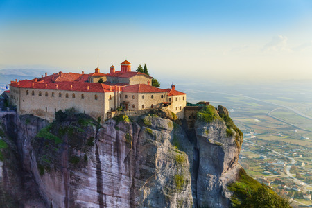 monastery nature: The Holy Monastery of Varlaam, Greece Stock Photo