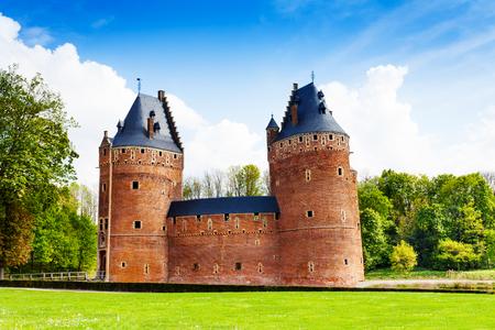 Beautiful Beersel Castle in Brussels, Belgium photo