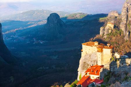 monastery nature: The Holy Monastery of Rousanou, Greece Stock Photo