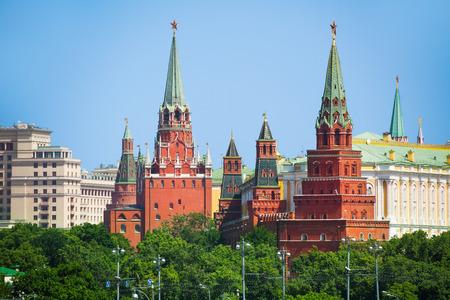 Vodovzvodnaya and Borovistakaya towers of Kremlin photo