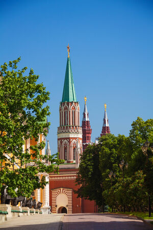 View of Nikolskaya tower from Kremlin in Moscow photo